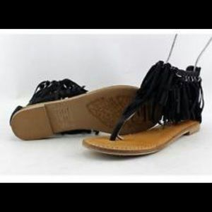 Not Rated frilly flat sandals